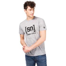 super.natural Essential I.D. T-Shirt Men Ash Melange/Print
